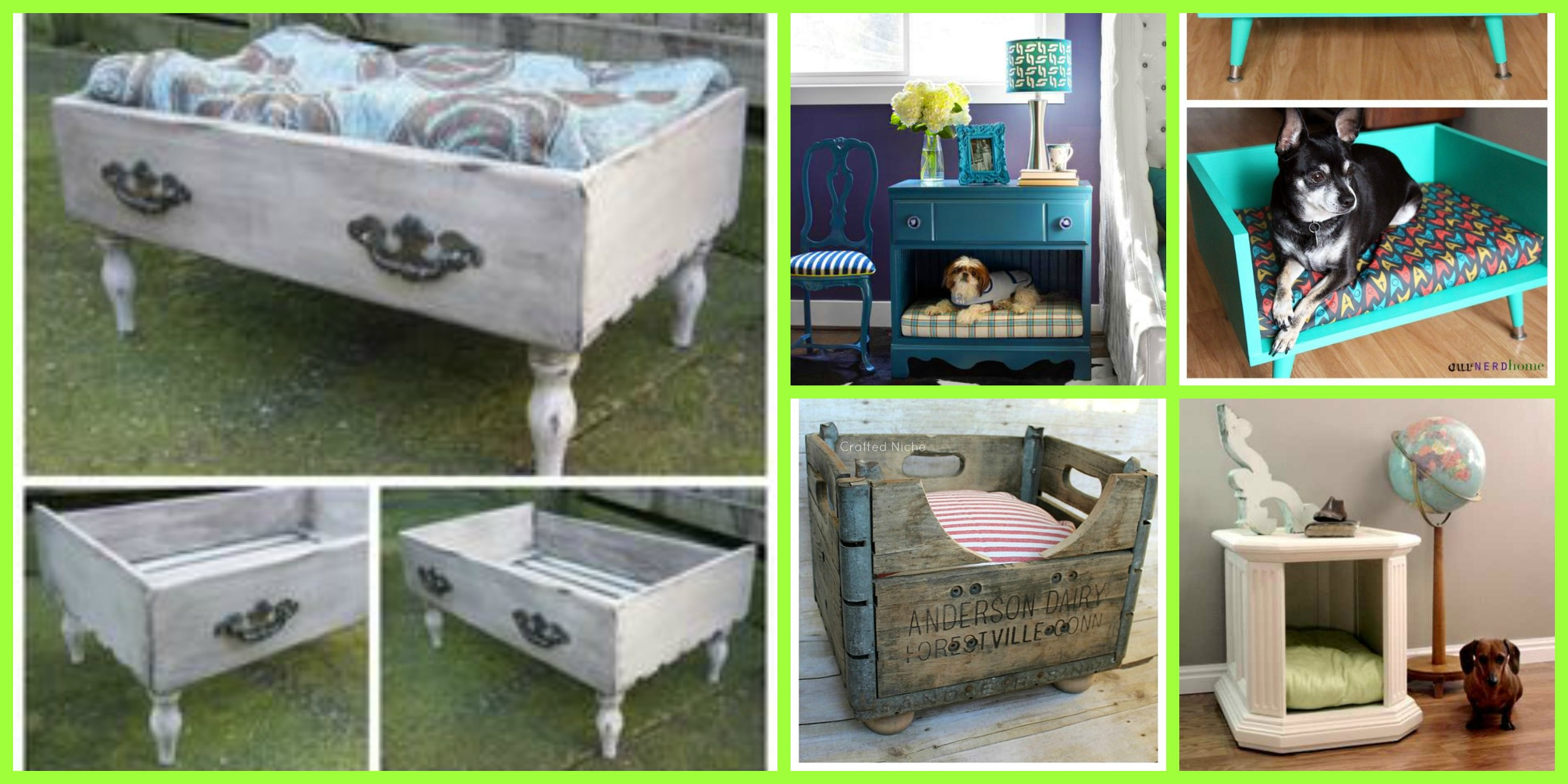 How To Make A Dog Bed Out Of Repurposed Drawers